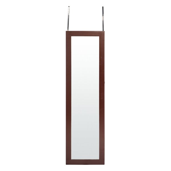 Rickey LED Wall Mounted Jewelry Armoire with Mirror by Rebrilliant Rebrilliant