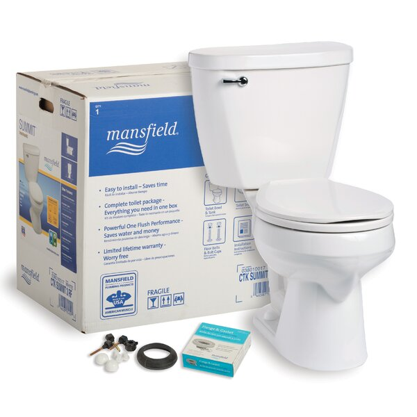 Summit CTK 1.6 GPF Round Two-Piece Toilet by Mansfield Plumbing Products