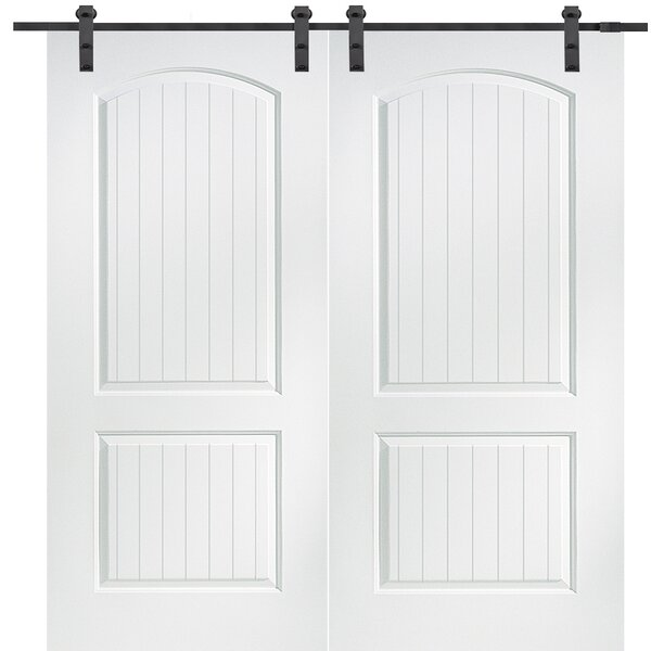 Cashal Solid MDF Panelled Slab Interior Barn Door by Verona Home Design