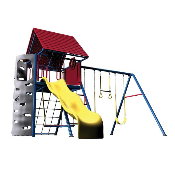 Primary Heavy Duty Metal Swing Set by Lifetime