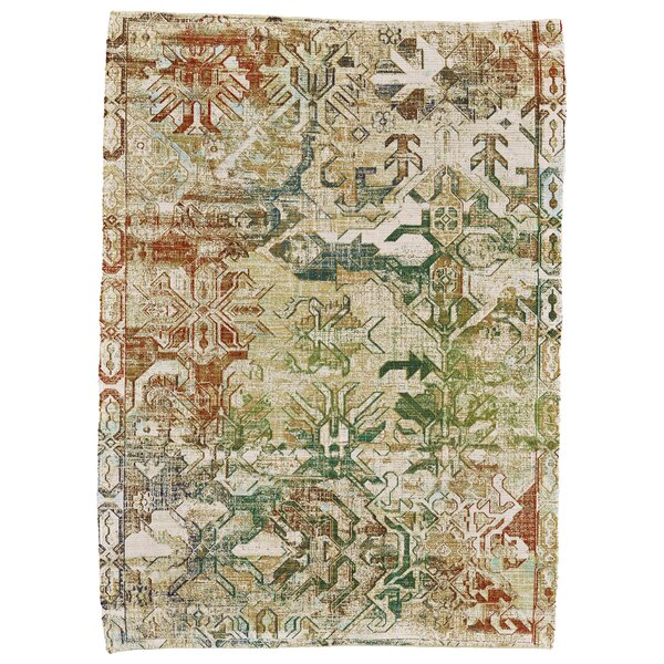 Ricard Hand-Woven Cream Area Rug by Charlton Home