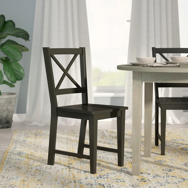 Ilaria Solid Wood Dining Chair (Set of 2) by Andover Mills
