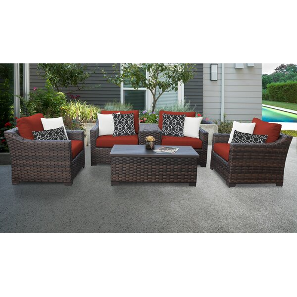 kathy ireland Homes & Gardens River Brook Residential/Non Residential Sofa Seating Group with Cushions by kathy ireland Homes & Gardens by TK Classics