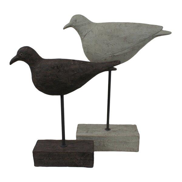 2 Piece Shore Birds Statue Set by Selectives