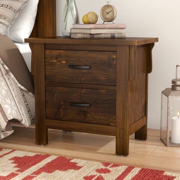 Waynoka 2 Drawers Nightstand by Gracie Oaks