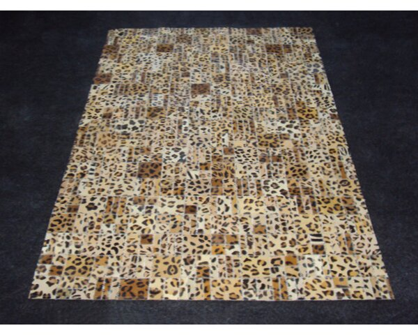 Patchwork Print Cheetah Area Rug by Modern Rugs