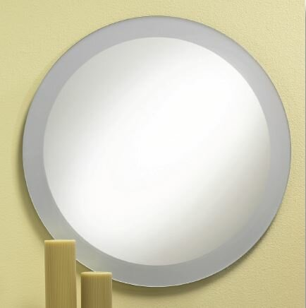 Proteus Frosted Border Bathroom/Vanity Mirror by Orren Ellis
