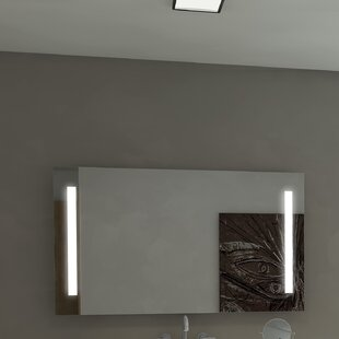 Lency Modern Illuminated Wall Mounted Bathroom/Vanity Wall Mirror By Orren Ellis