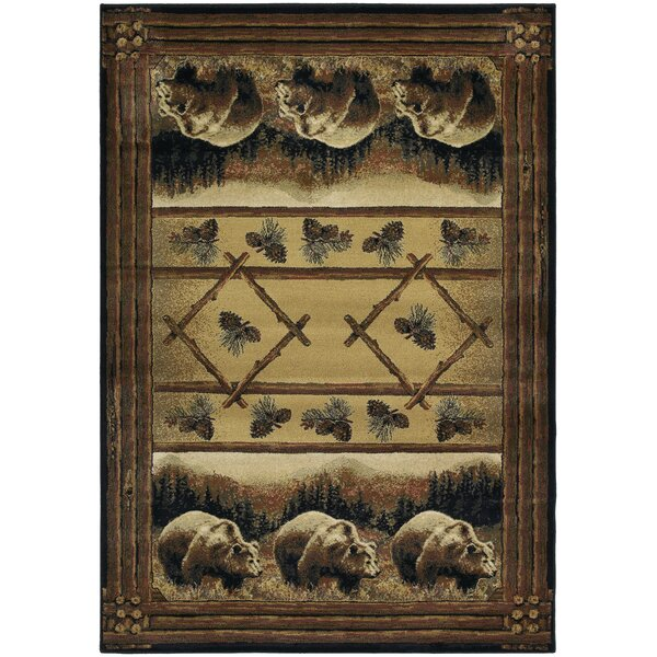 Hautman Grizzly Pines Lodge Brown Area Rug by Hautman Brothers Rugs