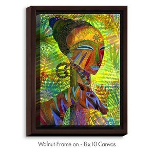 'African Queens' by Jennifer Baird Painting Print on Wrapped Framed Canvas by DiaNoche Designs