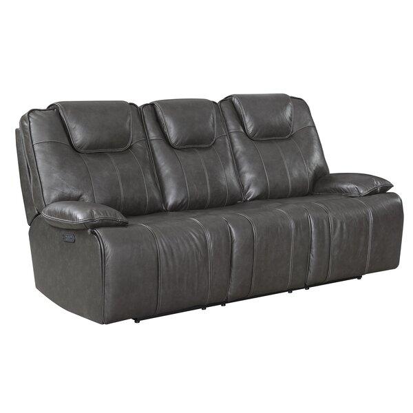 Almada Leather Reclining Sofa By Latitude Run