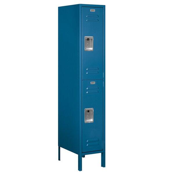 2 Tier 1 Wide Employee Locker By Salsbury Industries.