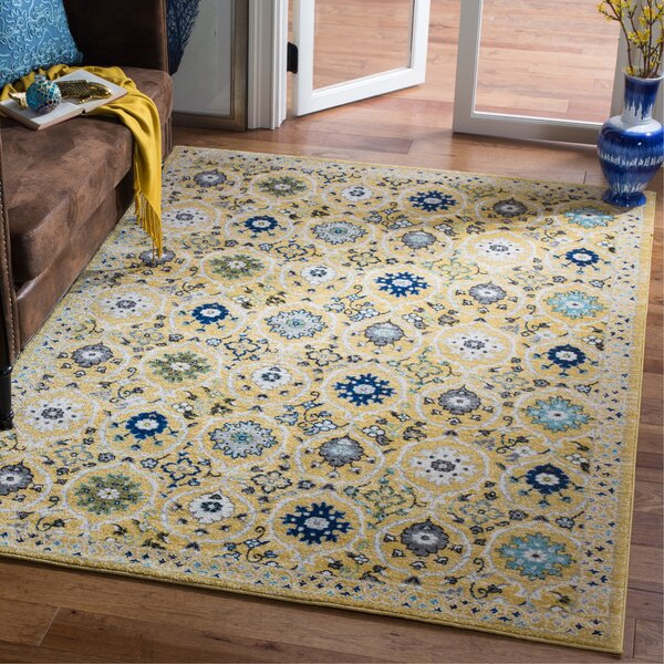 Pike Gold/Ivory Area Rug by Charlton Home