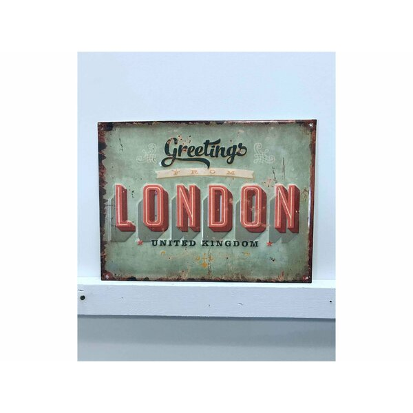 London Vintage Metal Wall Décor by Wrought Studio