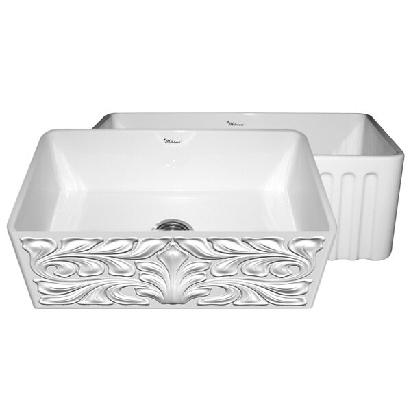 Gothichaus 30 L x 18 W Reversible Fireclay Kitchen Sink by Whitehaus Collection