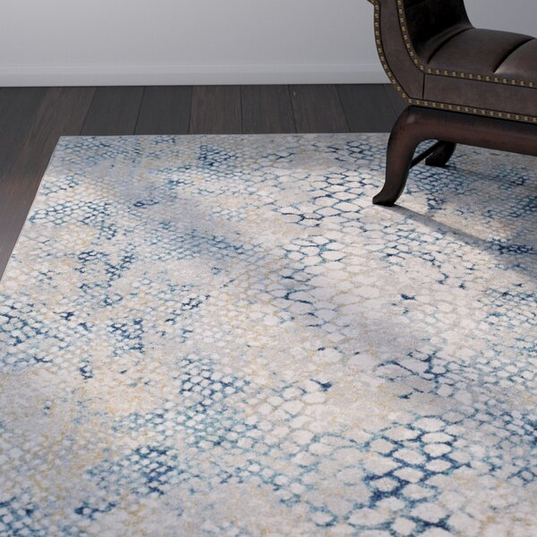 Shepard Navy/Teal Area Rug by World Menagerie