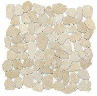 Cultura Pebbles 12 x 12 Marble Tile in Beige by Emser Tile