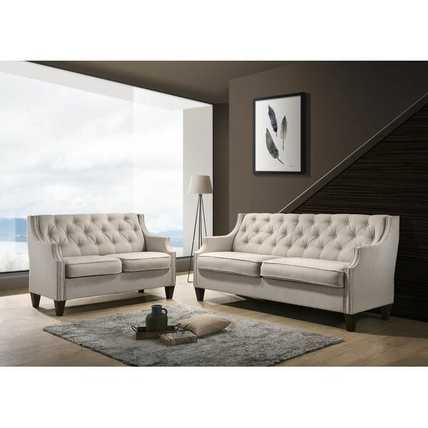 Seneca Tufted 2 Piece Living Room Set by Canora Grey