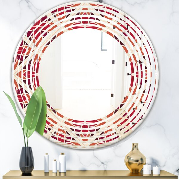 Wave Floral VI Cottage Americana Wall Mirror