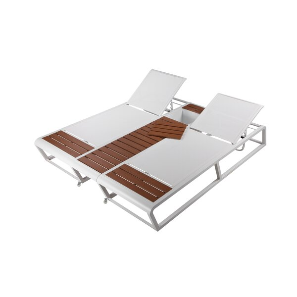 Raposa Double Reclining Chaise Lounge by Orren Ellis Orren Ellis