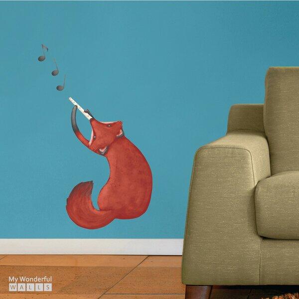Musical Fox Wall Decal by My Wonderful Walls