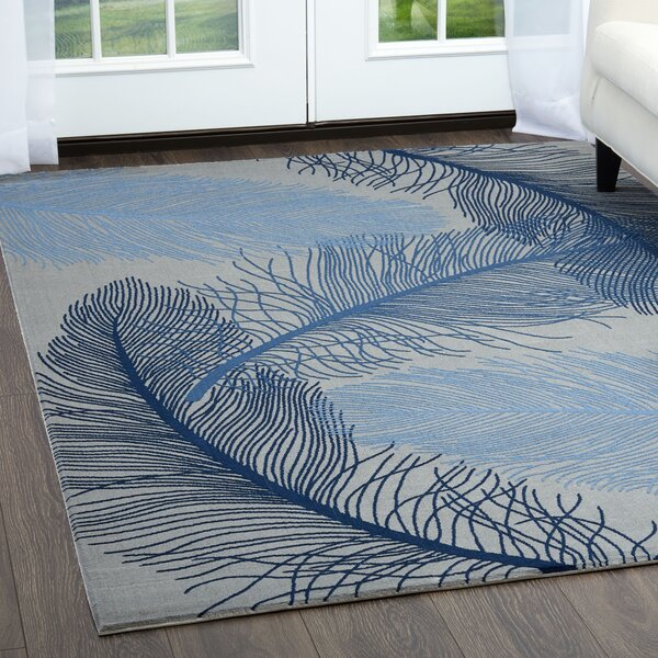 Rowe Gray/Blue Area Rug by Bay Isle Home