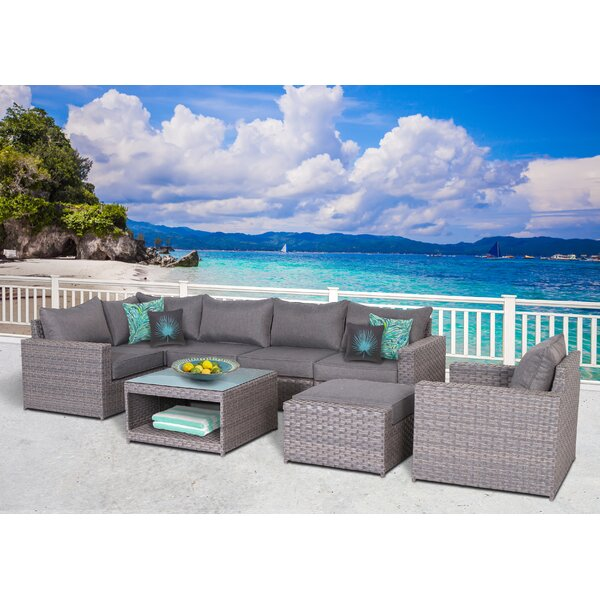 Humnoke 8 Piece Sectional Seating Group with Cushions by Sol 72 Outdoor