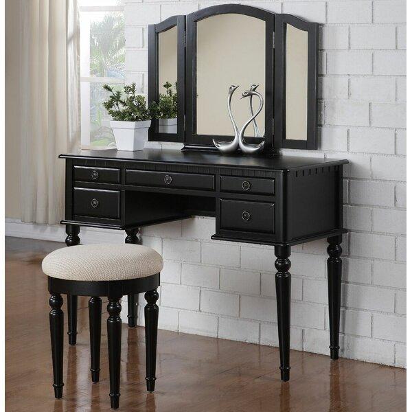 Alligood Vanity Set with Mirror by Rosdorf Park