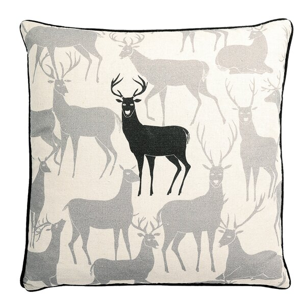 Monument Reindeer Synthetic Throw Pillow by Loon Peak