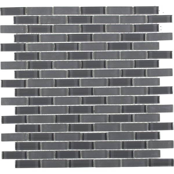 Contempo 0.6 x 2 Glass Mosaic Tile in Smoke Gray by Splashback Tile