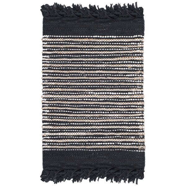 Glostrup Hand Tufted Black Area Rug by Bungalow Rose