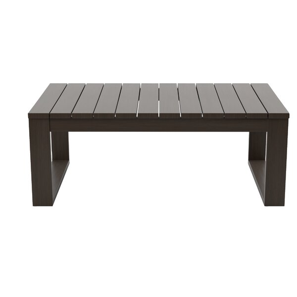 Luciano Aluminum Coffee Table by Mistana