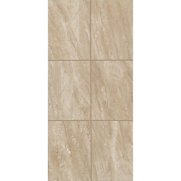 Bradwell Glazed 12 x 24 Porcelain Field Tile in Nocino Travertine by Mohawk Flooring