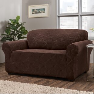 Diamond Box Cushion Loveseat Slipcover
