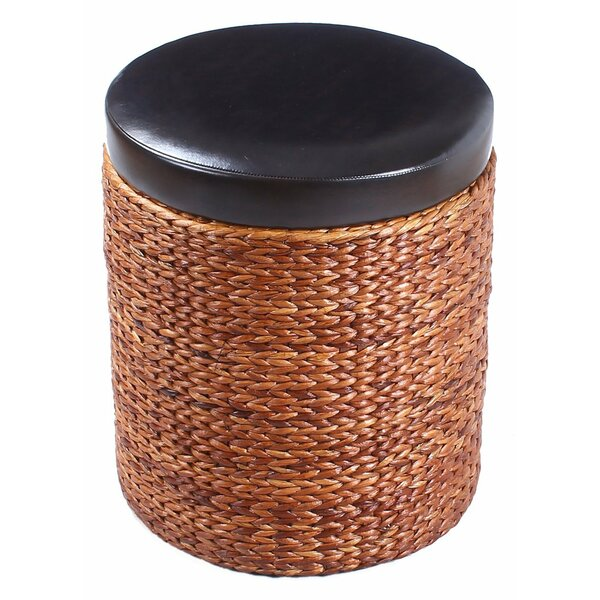 Storage Leather Ottoman by Adeco Trading