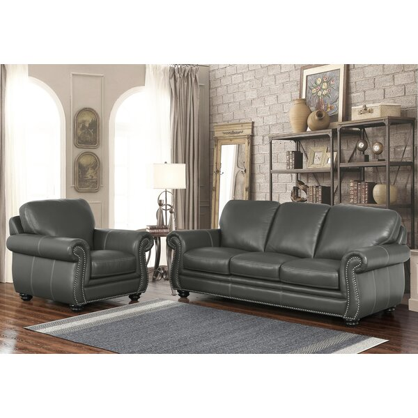Fairdale 2 Piece Leather Living Room Set by Darby Home Co