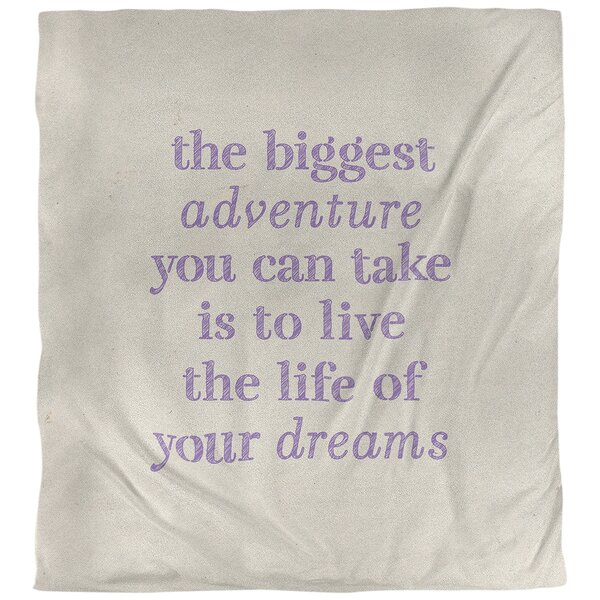 Quotes Handwritten the Biggest Adventure Single Reversible Duvet Cover