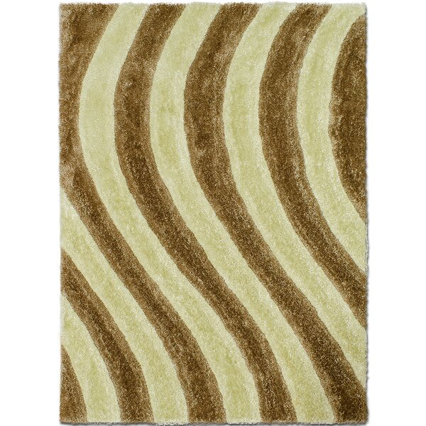 Hand-Tufted Champagne Area Rug by AllStar Rugs