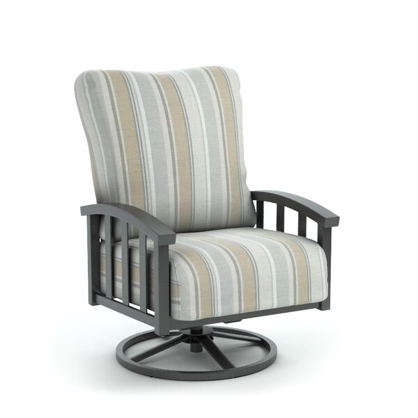 Colvin Swivel Patio Chair with Sunbrella Cushion by Rosecliff Heights