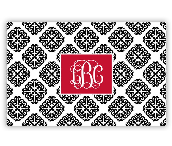Marakesh Script Monogram Laminated Placemat by Chatsworth