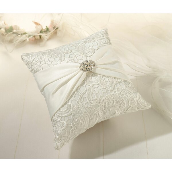Vintage Lace Ring Bearer Pillow by Lillian Rose