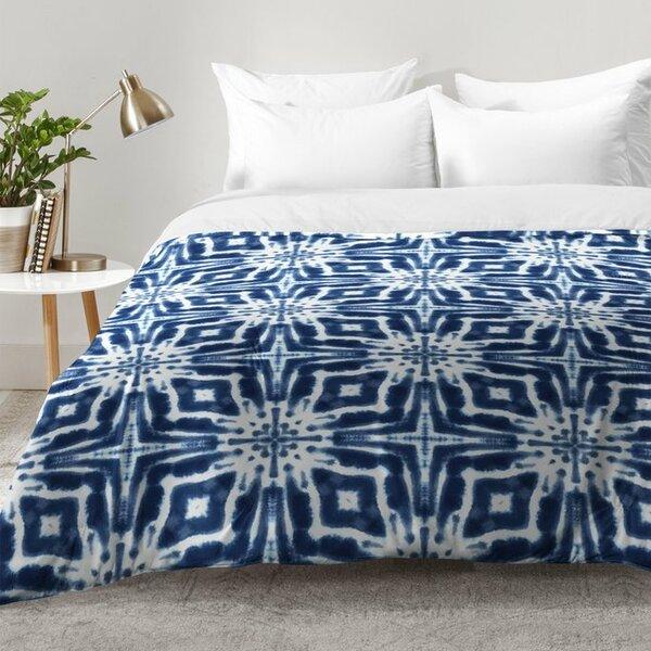 Watercolor Shibori Indigo Comforter Set