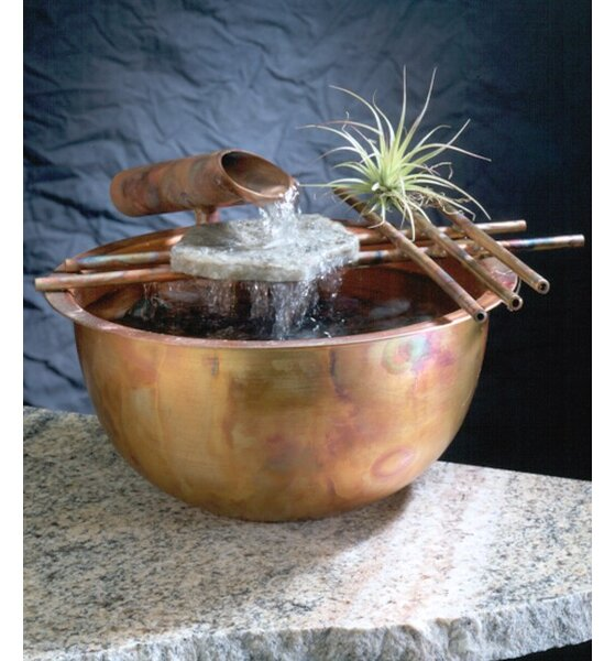 Copper Gentle Flow Tabletop Fountain by Nayer Kazemi
