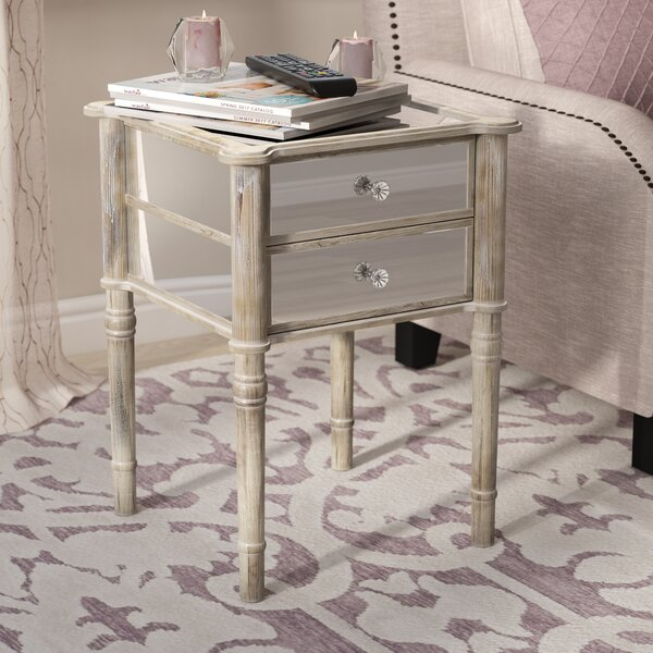 Karle End Table with Storage by Willa Arlo Interiors