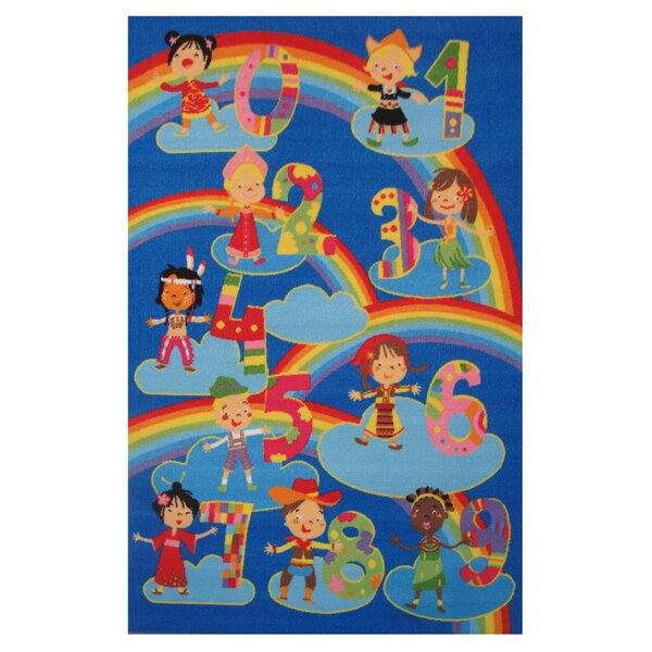 Fun Time Kids and Numbers Kids Rug by Fun Rugs