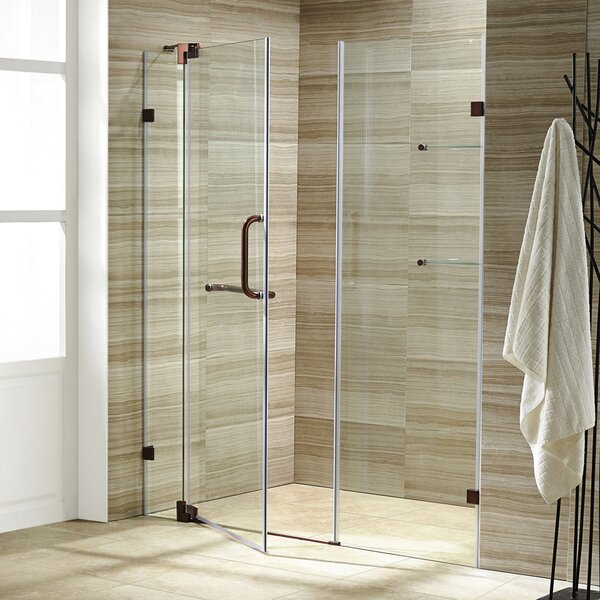 Pirouette 48 x 72 Pivot Frameless Shower Door by V