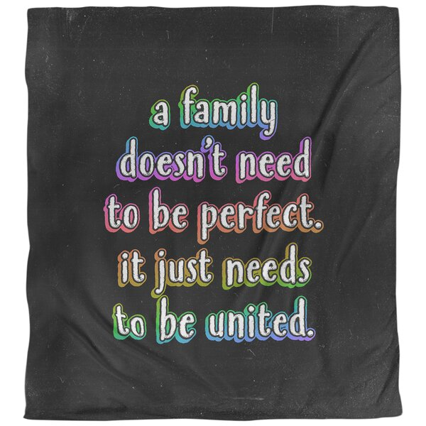 Family Love Quote Single Duvet Cover