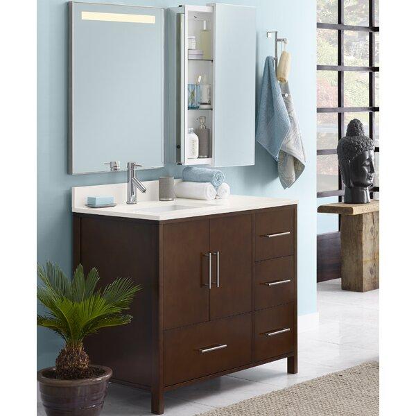 Juno 36 Single Bathroom Vanity Set with Mirror by Ronbow
