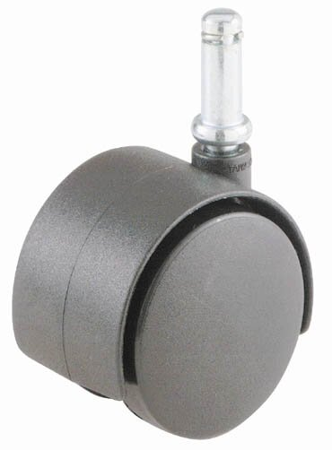 2 Black Office Chair Twin Wheel Push Up Stem Caster by Shepherd