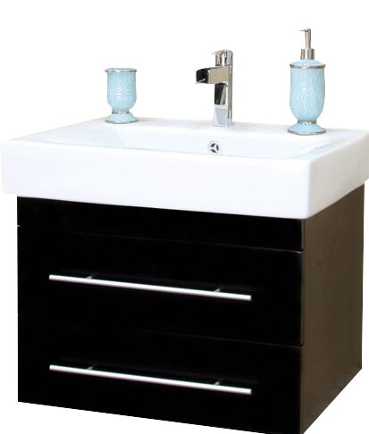 Pickering 25 Single Wall-Mounted Bathroom Vanity Set by Bellaterra HomePickering 25 Single Wall-Mounted Bathroom Vanity Set by Bellaterra Home